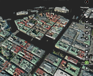 A Cityplanner scenario that puts Gothenburg under water.