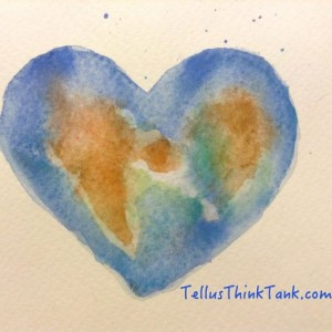Painting by Liv Höckert - for Tellus Think Tank - for a sustainable future