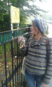 Evie with the keys to the Community Croft and the all the other secret gardens of Leith! Photo: AnnVixen