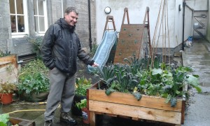 Eric shows how urban gardening can lift a concrete backyard! Photo: AnnVixen