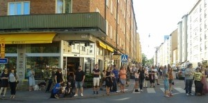 Skånegatan in Stockholm was made into a pedestrian area during the summer of 2015. Photo: AnnVixen