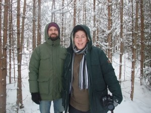 Markus and Agata in the magic forrest of Flurlunar farm. Photo: AnnVixen