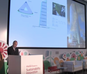 Hans Hassle speaking at the Sustainability Innovation Summit 2013. Picture from Youtube.