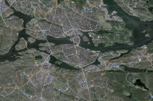 Stockholm from a Google Earth perspective.