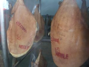Air-dried ham at Nibble Farm. Photo: AnnVixen